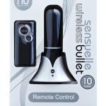 Sensuelle Rechargeable Wireless Remote Control Bullet - Black 1